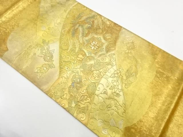 【IDnet】 金彩螺鈿花鳥唐草模様袋帯【リサイクル】【中古】【着】