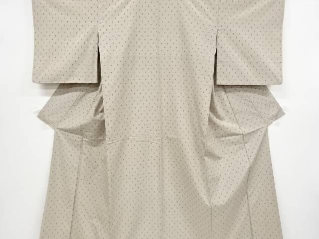 【IDnet】 十字絣柄織り出し手織り節紬着物【リサイクル】【中古】【着】