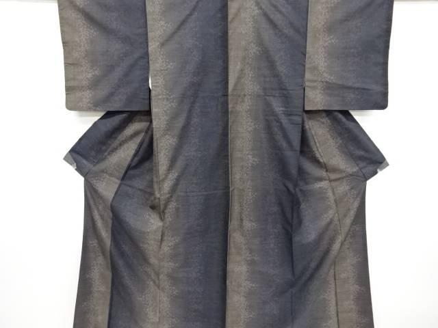 【IDnet】 抽象模様織り出し本場泥大島紬着物(7マルキ)【リサイクル】【中古】【着】