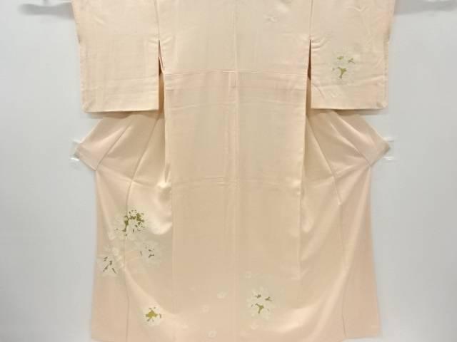 【IDnet】 相良刺繍金彩花丸紋に菊橘模様訪問着(重ね衿付き)【リサイクル】【中古】【着】