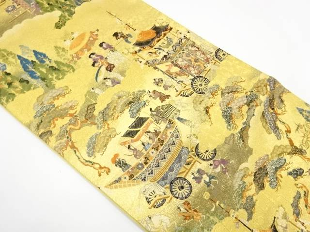 【IDnet】 祇園祭模様織出し袋帯【リサイクル】【中古】【着】