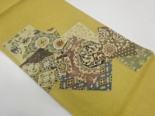【IDnet】 明綴れ色紙に花鳥模様織出し袋帯【リサイクル】【中古】【着】