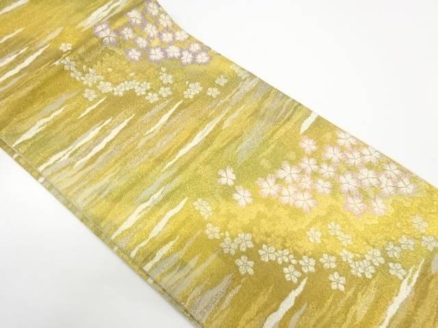 【IDnet】 未使用品 御薗織物製 桜模様織出し袋帯【リサイクル】【着】