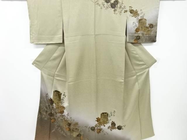 【IDnet】 金彩菊に萩・貝桶模様訪問着【リサイクル】【中古】【着】
