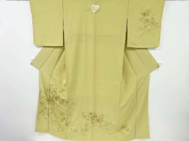 【IDnet】 未使用品 仕立て上がり 汕頭蘇州刺繍流水に菊・枝梅模様一つ紋訪問着【着】