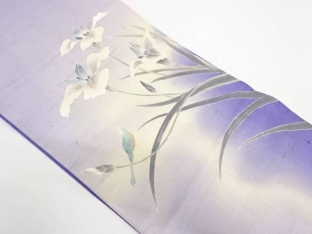【IDnet】 手織り紬花鳥模様袋帯【リサイクル】【中古】【着】