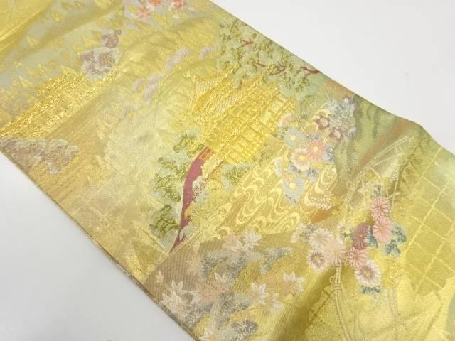 【IDnet】 大石織物製 金閣寺模様織出し袋帯【リサイクル】【中古】【着】