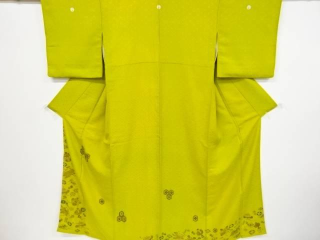 【IDnet】 宝尽くし模様刺繍暈し五つ紋色留袖【リサイクル】【中古】【着】