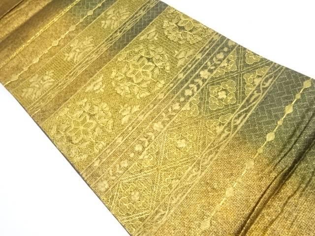 【IDnet】 蘇州刺繍横段に花模様袋帯【リサイクル】【中古】【着】