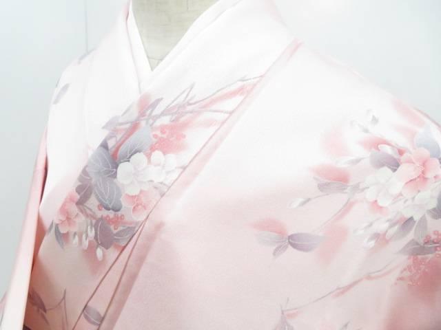 【IDnet】 小紋 暈し 枝桜文 着物【リサイクル】【中古】【着】