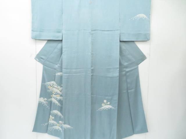 【IDnet】 付下げ 絞り 青海波に古典草花文 着物【リサイクル】【中古】【着】