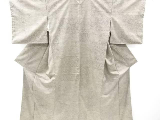 【IDnet】 無形文化財 本場牛首紬市松に水玉模様着物【リサイクル】【中古】【着】