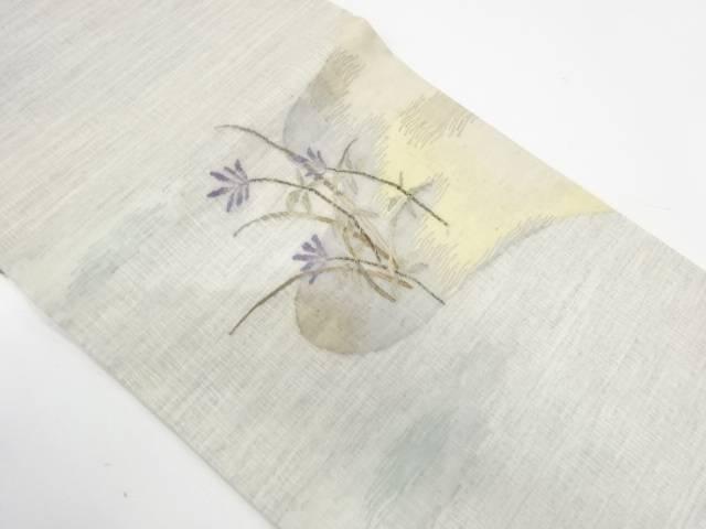 【IDnet】 すくい織枝花模様織出し袋帯【リサイクル】【中古】【着】