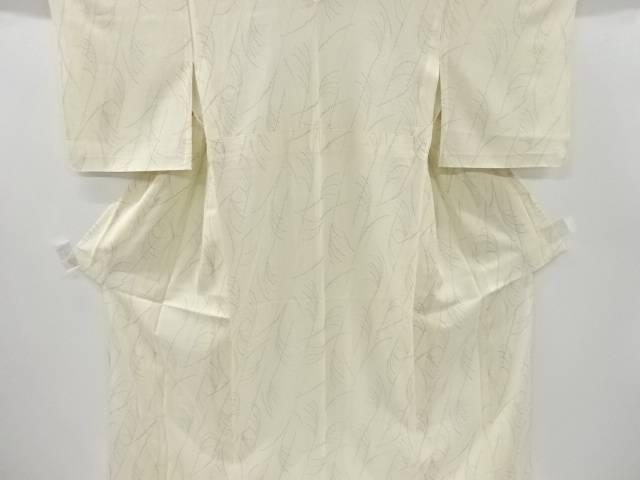 【IDnet】 芒模様織り出し夏十日町紬着物【リサイクル】【中古】【着】
