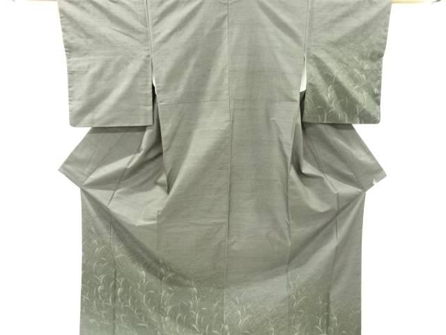 【IDnet】 草花模様織り出し手織り節紬訪問着【リサイクル】【中古】【着】