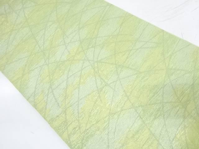 【IDnet】 織悦製 紗 草葉模様織出し全通袋帯【リサイクル】【中古】【着】