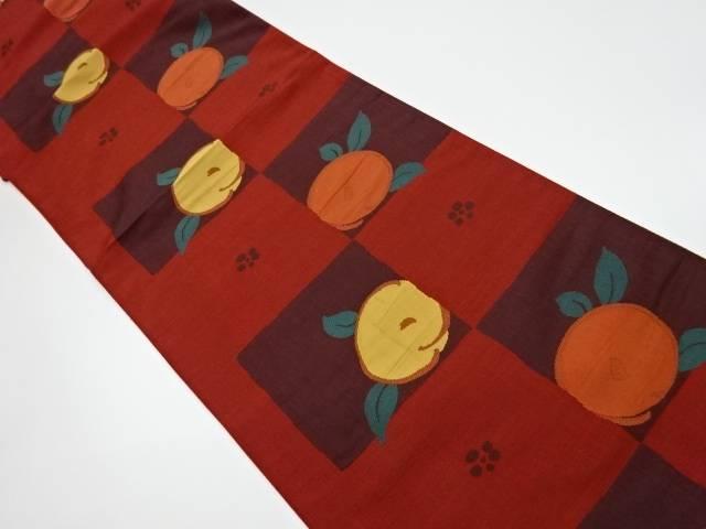 【IDnet】 未使用品 作家物 市松に花模様織出し洒落袋帯【リサイクル】【着】