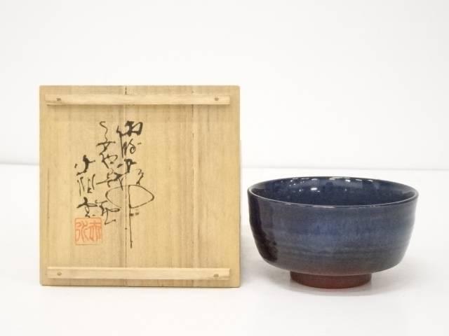 【IDnet】 佐渡無名嫌気 伊藤赤水造 茶碗 (共箱)【中古】【道】