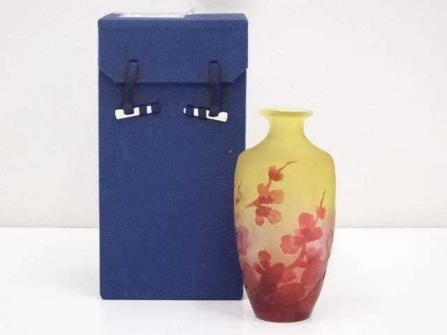 【IDnet】 エミール・ガレ 木瓜文花瓶(箱付)【中古】【道】