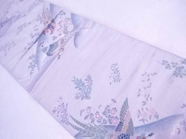 【IDnet】 袋帯 刺繍 王鳥繍花文【リサイクル】【中古】【着】