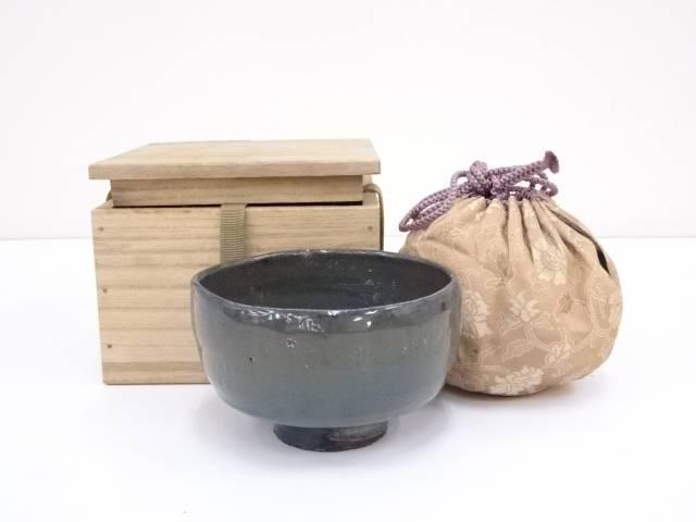 【IDnet】 古物 瑠璃茶碗 (仕覆付)【道】