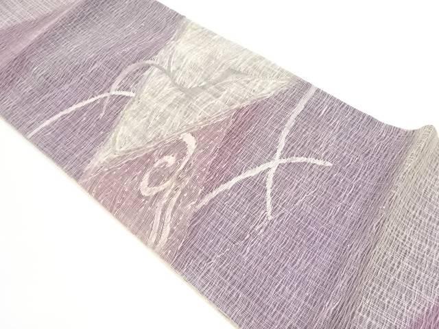 【IDnet】 すくい織抽象模様織出し袋帯【リサイクル】【中古】【着】