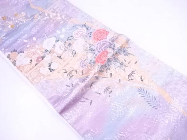 【IDnet】 袋帯 九百本金二十織 牡丹竹寿文【リサイクル】【中古】【着】