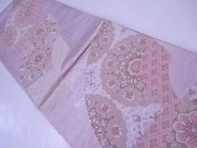 【IDnet】 袋帯 刺繍 扇面に唐華文【リサイクル】【中古】【着】