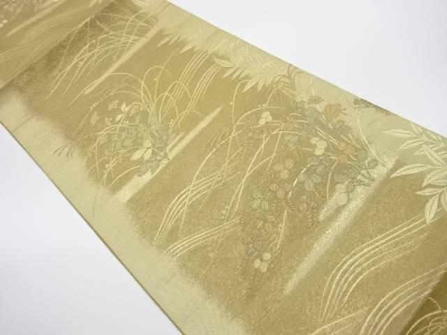 【IDnet】 絽秋草模様織出し袋帯【リサイクル】【中古】【着】