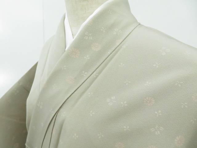 【IDnet】 小紋 萩と菊散らし文 着物【リサイクル】【中古】【着】
