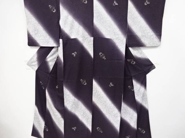 【IDnet】 金彩 萩に抽象模様小紋着物【リサイクル】【中古】【着】