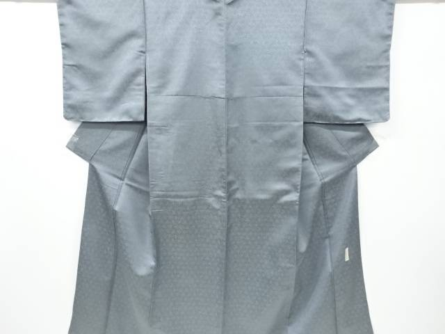 【IDnet】 未使用品 仕立て上がり 寿光織 花唐草模様織り出し一つ紋色無地着物【着】