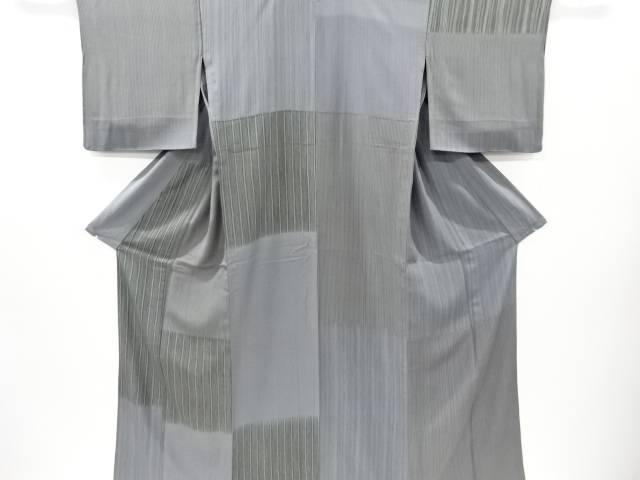 【IDnet】 横段に縞模様単衣訪問着【リサイクル】【中古】【着】