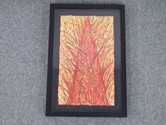 【IDnet】 絵画 大平由香理筆 「煌樹」 肉筆 額装【中古】【道】