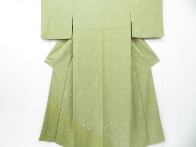 【IDnet】 付下げ 刺繍 墨流しに鉄線文 着物【リサイクル】【中古】【着】