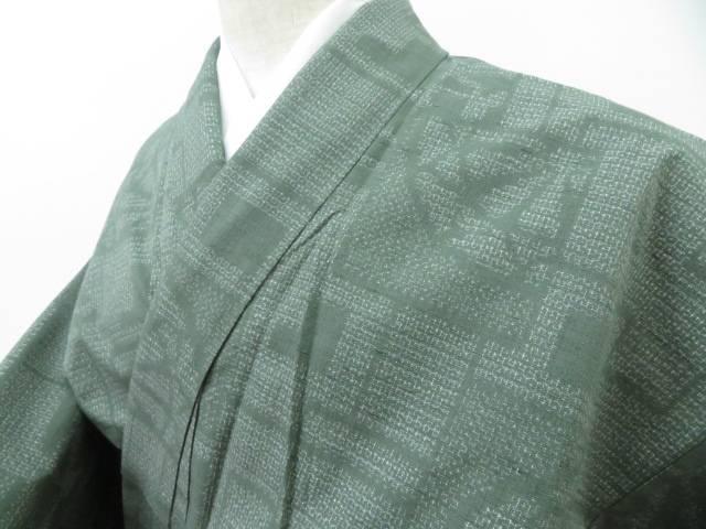 着物【リサイクル】【中古】【着】 【IDnet】 色紙に源氏車文 紬