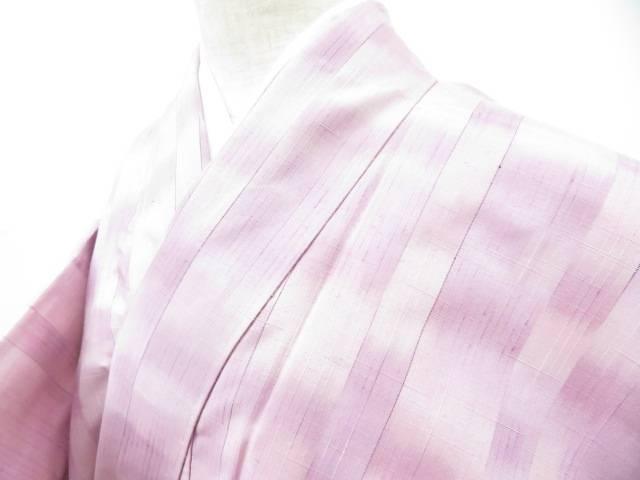 【IDnet】 紬 暈し 変わり縞文 着物【リサイクル】【着】:アイディーネット