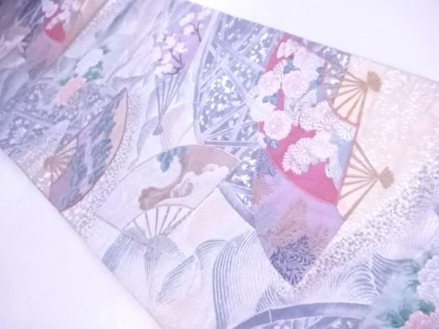 【IDnet】 袋帯 刺繍 『清流画扇文』【リサイクル】【中古】【着】