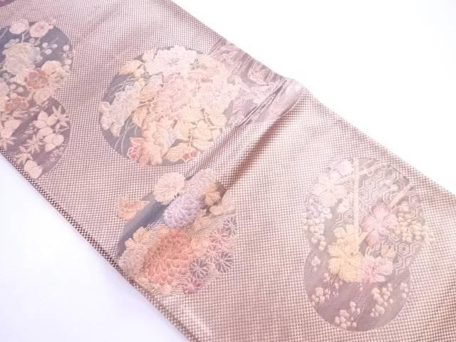 【IDnet】 袋帯 丸に古典草花文【リサイクル】【中古】【着】