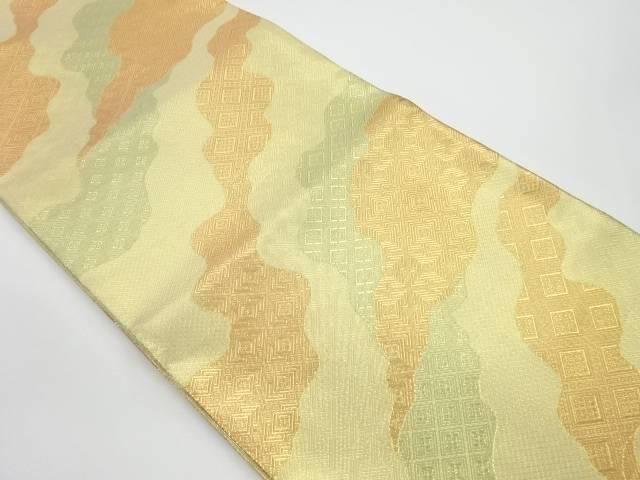 【IDnet】 未使用品 道長取りに古典柄模様織出し袋帯【リサイクル】【着】