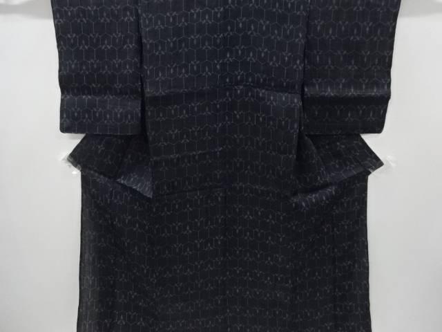 【IDnet】 本場宮古上布亀甲に抽象模様織り出し着物【アンティーク】【中古】【着】