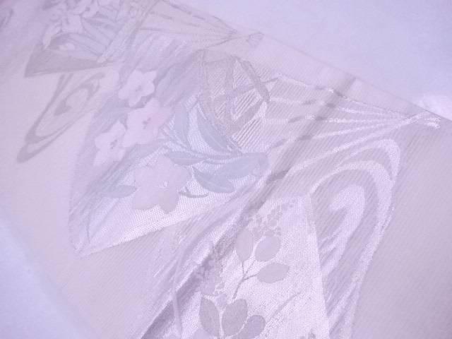 【IDnet】 夏物袋帯 絽 流水に扇と秋草花文【リサイクル】【中古】【着】
