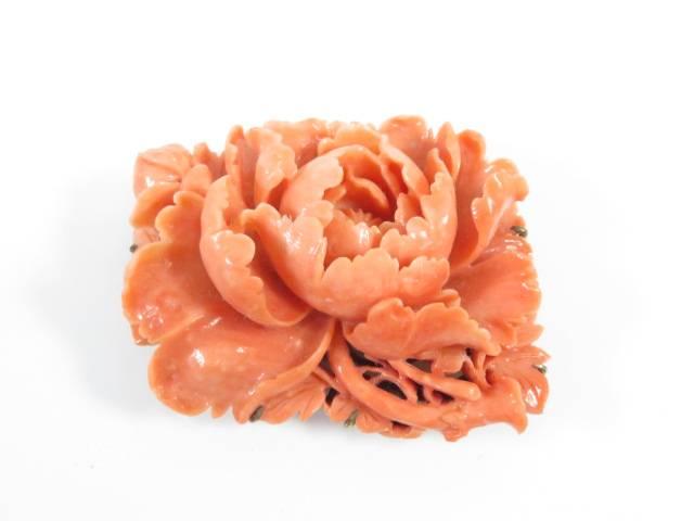 【IDnet】 和装小物 本珊瑚 帯留め 本珊瑚【アンティーク】【中古】【着】