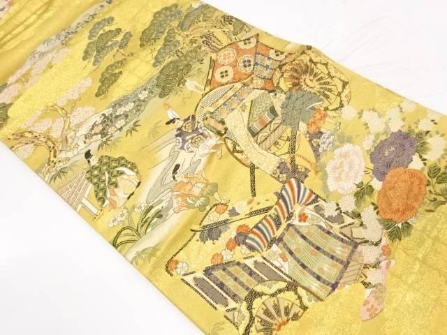 【IDnet】 王朝の四季夏之図織出し袋帯【リサイクル】【中古】【着】