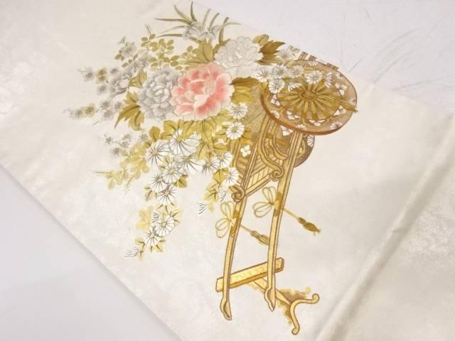 【IDnet】 蘇州刺繍花車模様袋帯【リサイクル】【中古】【着】