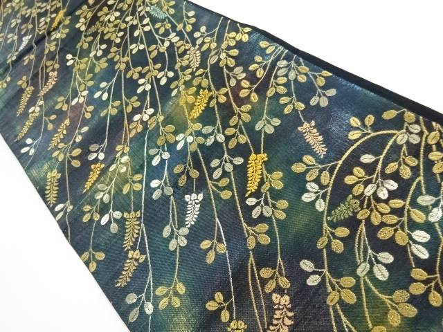 【IDnet】 金銀糸萩模様織出し袋帯【リサイクル】【中古】【着】