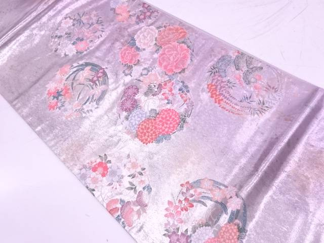 【IDnet】 引箔花丸紋様織出し袋帯【リサイクル】【中古】【着】