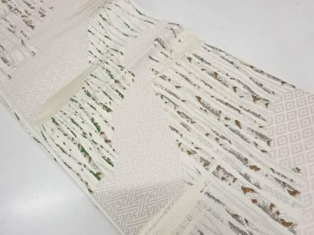 スーパーセール期間限定 ビッグセール35%OFF 人気ブランド多数対象 IDnet 霞に樹木模様織出し袋帯 中古 リサイクル 着
