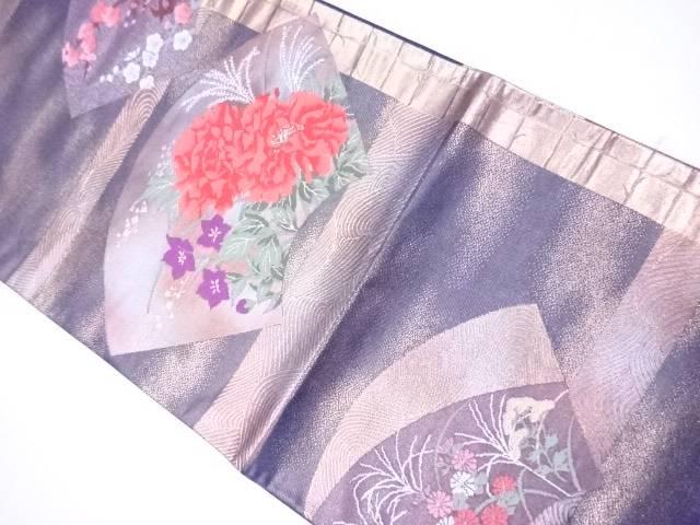 一流の品質 【IDnet】 袋帯 地紙に四季花文【リサイクル】【着】, シルバーアクセサリーバズショット 862a4355