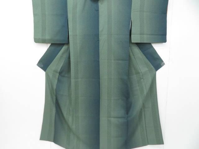 予約販売品 スーパーセール50%OFF IDnet 小紋 縞に市松文 着物 着 世界の人気ブランド リサイクル 中古